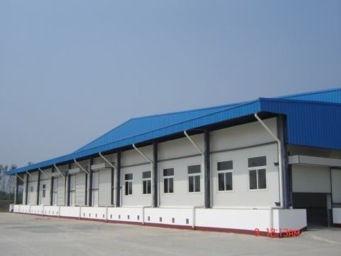 40 HQ Contianer Loading Poultry Farm Structure With Steel Sheet Cladding